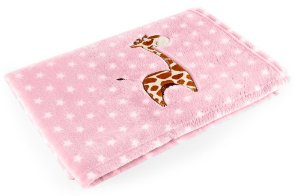 Manta Rosa Girafa - Baby Pil