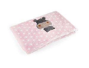 Manta Rosa Hipopótamo - Baby Pil