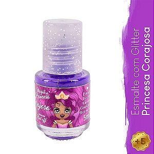 Esmalte Infantil com Glitter Princesa Corajosa - Magia de Princesa