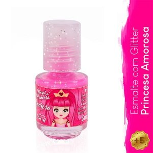 Esmalte Infantil com Glitter Princesa Amorosa - Magia de Princesa