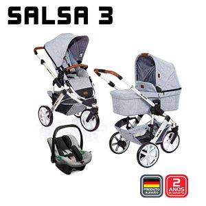 Carrinho de Bebê Travel System Salsa 3 Graphite Trio - ABC Design
