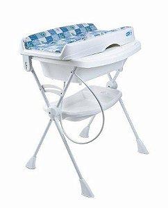 Banheira Bebê Suporte Splash Peixinhos Azul - Burigotto