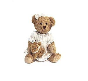 Ursa de Pelúcia com Roupa Delicada e Dog - Modali Baby
