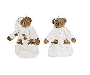 Porta Fraldas Urso e Ursa Bordado - Modali Baby