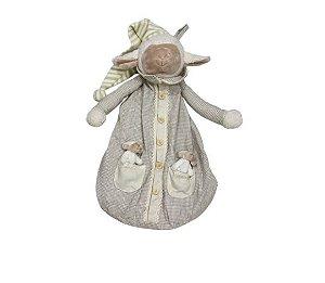Saco para Fralda ou Pijama Carneiro Bege - Modali Baby
