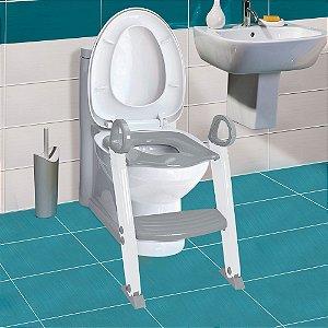 Redutor de Assento Sanitário com Degrau Penico Cinza - Clingo