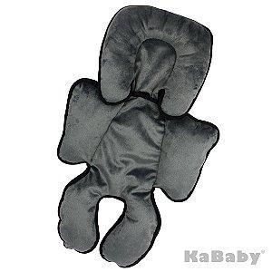 Almofada Suporte para Bebê Conforto Cinza - Kababy