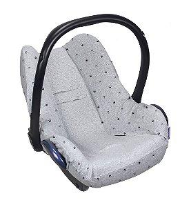 Capa para Bebê Conforto Seat Cover Coroas Cinza - Dooky