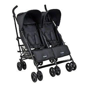 Carrinho de Bebê Gêmeos Twingo Black - Burigotto