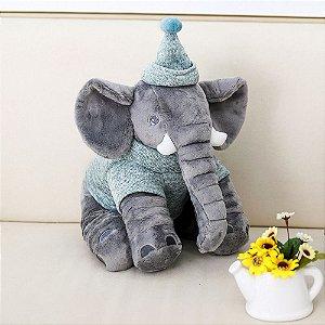 Pelúcia Elefante Buguinha Boy 34 cm - Bupbaby