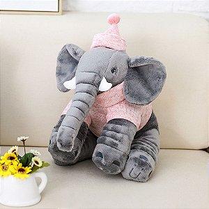 Pelúcia Elefante Buguinha Girl 34 cm - Bupbaby