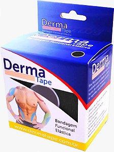 Bandagem Funcional Elastica 5x500cm Preto - Derma Tape