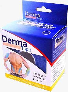 Bandagem Funcional Elastica 5x500cm Azul - Derma Tape