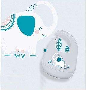 Babador de Silicone Bichos Elefante - KaBaby
