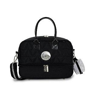 Frasqueira Térmica Vicky Nylon Glow Preta - Masterbag Baby