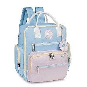 Mochila Urban Colors Azul e Rosa - Masterbag Baby