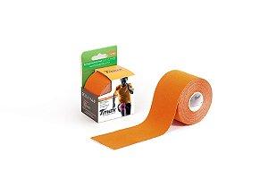 Bandagem Elastica Adesiva 5m x 5cm Laranja - Tmax