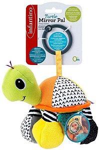 Mobile com Espelho Tartaruga Verde e Roxo - Infantino