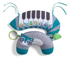 Apoio para Bebê Guaxinim com Piano - Infantino