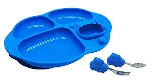 Kit Alimentação com 4 Divisórias Hipopótamo - Marcus&Marcus