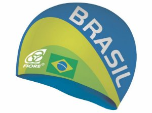 Touca De Silicone Para Natação Fiore Team Brasil