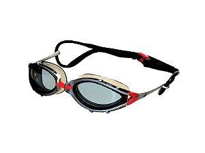 Óculos Para Natação Conquest Fumê/Prata - Hammerhead