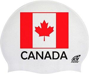 Touca De Silicone Para Natação Bandeira Do Canada