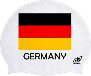 Touca De Silicone Para Natação Bandeira Da Alemanha