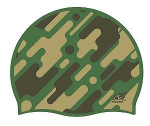 Touca De Silicone Para Natação Fiore Camouflage