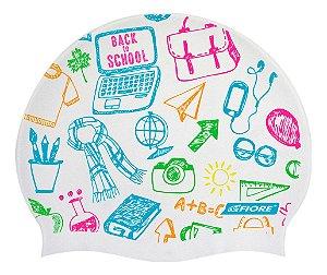 Touca De Silicone Para Natação Fiore Back To School