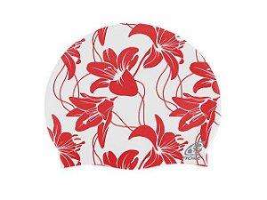 Touca De Silicone Para Natação Fiore Hibiscus