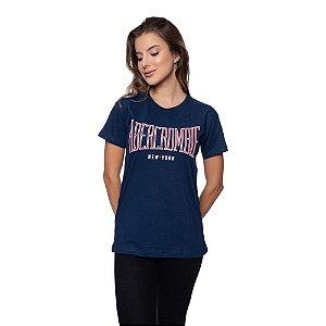 Camiseta Feminina Abercrombie Original Azul marinho