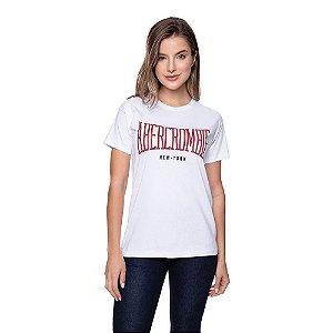 Camiseta Feminina Abercrombie Original Branca