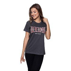 Camiseta Feminina Abercrombie Original Grafite