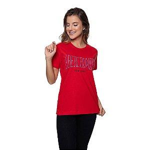 Camiseta Feminina Abercrombie Original Vermelha