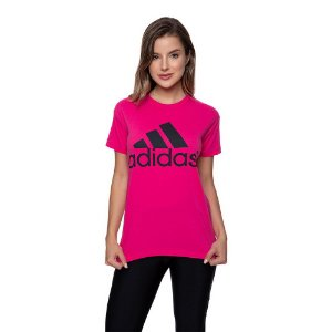 Camiseta Feminina Adidas Original Rosa Choque