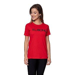 Camiseta Feminina Billabong Original Vermelha