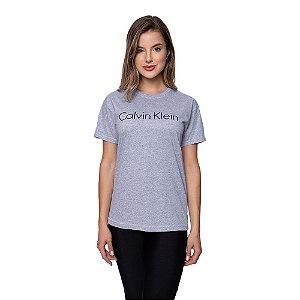 Camiseta Feminina Calvin Klein Original Cinza