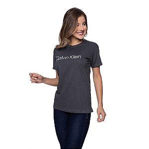 Camiseta Feminina Calvin Klein Original Grafite