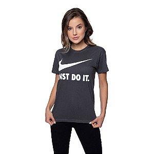Camiseta Feminina Nike Original Grafite