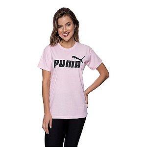 Camiseta Feminina Puma Original Rosa Bebê