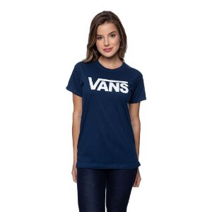 Camiseta Feminina VANS Original Azul marinho