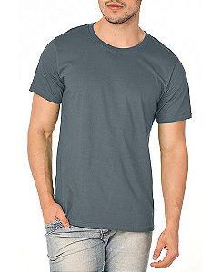 Camiseta Masculina Lisa Chumbo