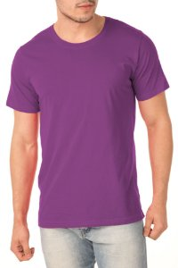 Camiseta Masculina Lisa Roxo