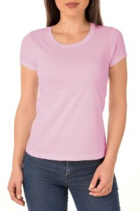 Camiseta Feminina Lisa Rosa
