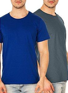 Kit com 05 Camisetas Lisas Masculina