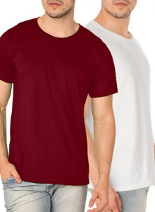 Kit com 10 Camisetas Lisas Masculina