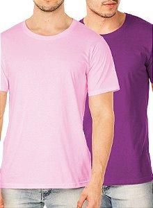 Kit com 20 Camisetas Lisas Masculina
