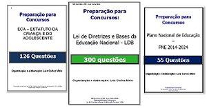 481 Questões de Legislação Educacional: ECA, LDB e PNE 2014-2024