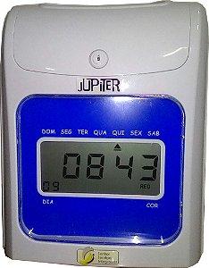 Relógio de ponto cartográfico Jupiter com 50 cartões e planilha de apuração de ponto